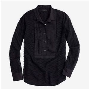 J. Crew • Swiss-dot tuxedo shirt in black • 4
